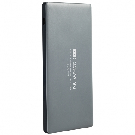 Canyon Power bank 5000mAh bulit-in Lithium Polymer Battery, dark gray