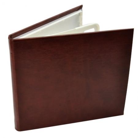 Carcasa 4 CD DVD, Piele eco, Model Clasic - Maro