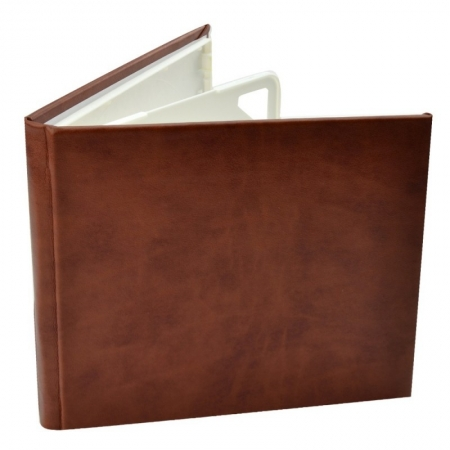 Carcasa 4 CD DVD, Piele eco, Model Clasic - Visiniu