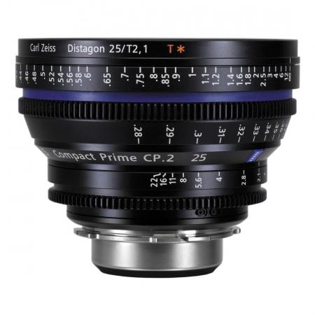 Carl Zeiss CP.2  2.1/25 T* - montura Canon EF metric