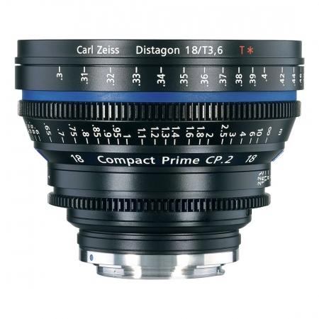 Carl Zeiss CP.2  3.6/18 T* E - metric - montura Sony E