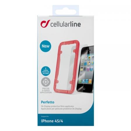 Cellular Line SPEASYI PHONE 4 - folie de protectie cu cadru pentru iPhone 4s