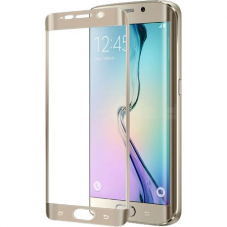 Celly Folie Protectie Sticla - Samsung Galaxy S6 Edge, auriu