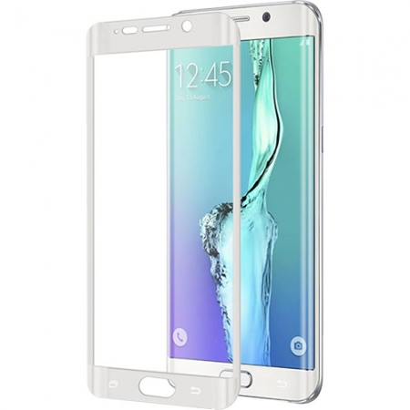 Celly Folie Protectie Sticla - Samsung Galaxy S6 Edge Plus, alb