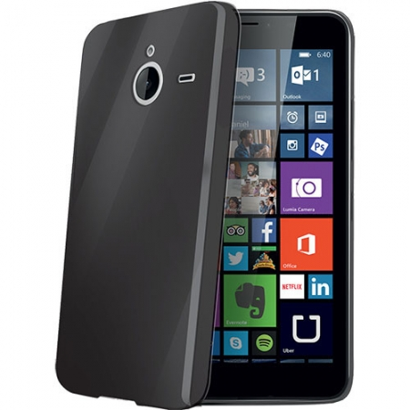 Celly Husa Capac spate - Microsoft Lumia 640 XL, negru