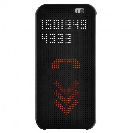 Husa Dot View pentru HTC E9 Plus - Negru