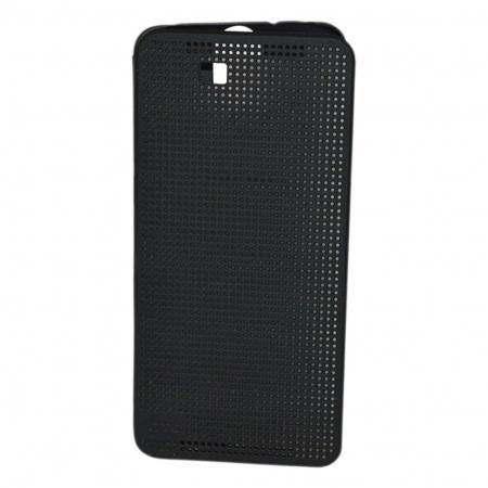 Cronos Husa Dot View pentru HTC E9 - Negru