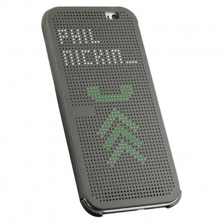Cronos Husa Dot View pentru HTC One M9+ - Gri
