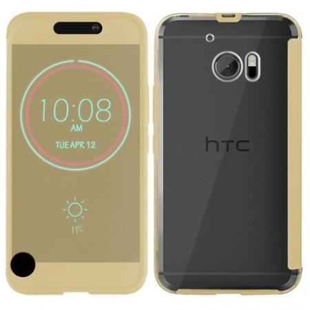 Cronos Husa HTC Ice View pentru HTC 10 - auriu RS125030086