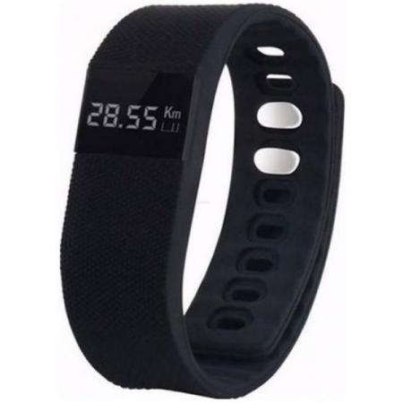 Cronos Smart + Heart Rate - Bratara inteligenta fitness - negru