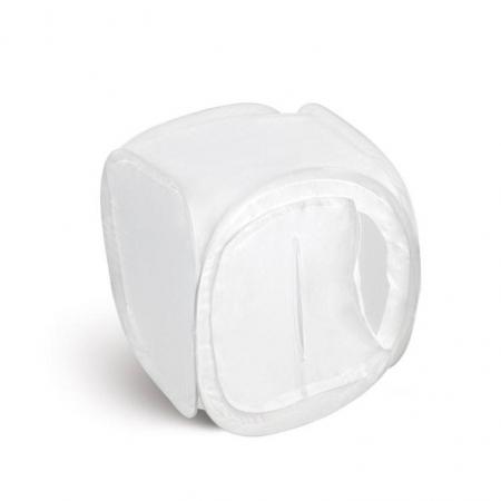 Cub foto produs 40cm + 3 fundaluri (alb, negru, rosu)