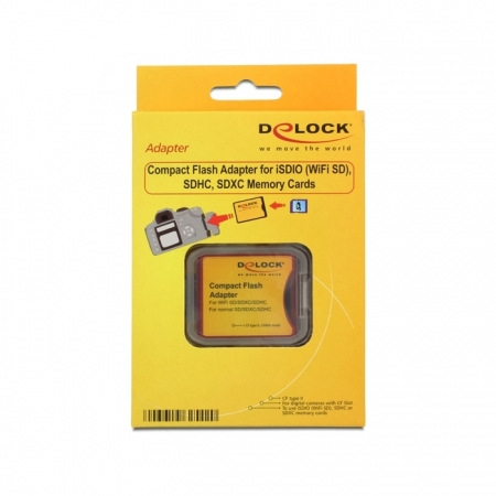 DeLOCK 61796 - adaptor CF II pentru SD/SDHC/SDXC