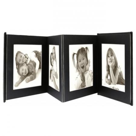 Deknudt Leporello A66DC2 - rame foto pentru 8 fotografii, 13x18cm, negru