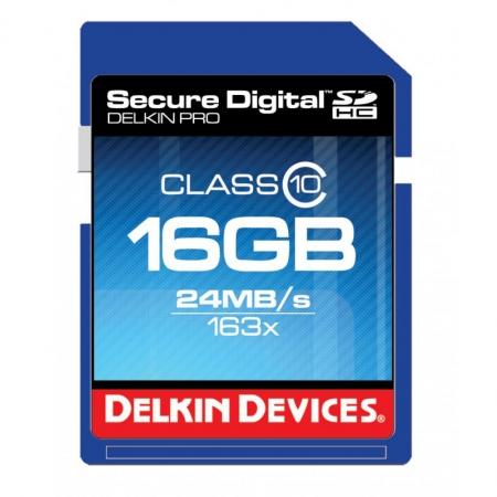 Delkin SDHC 16GB 163X CLASS 10 MEMORY CARD - RS125002379-2