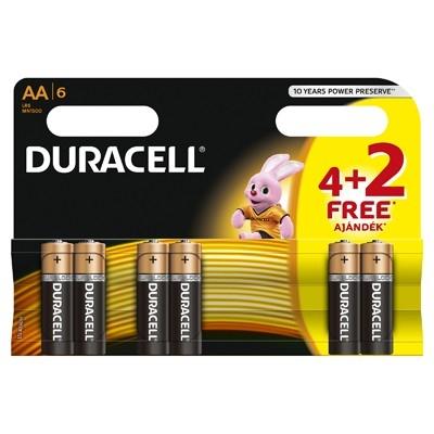 Duracell - Baterie AA LR06, 4+2 buc. gratis