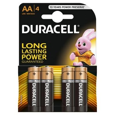 Duracell - Baterie AA LR06, 4 buc.