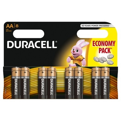Duracell - Baterie AA LR06, 8 buc.