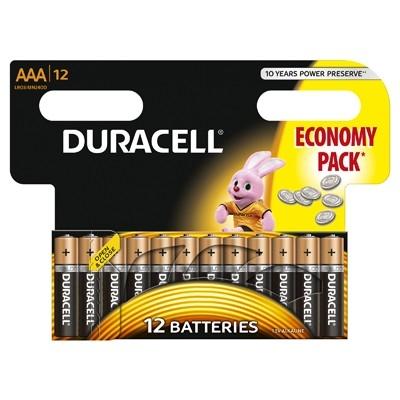 Duracell - Baterie AAA LR03, 12 buc.