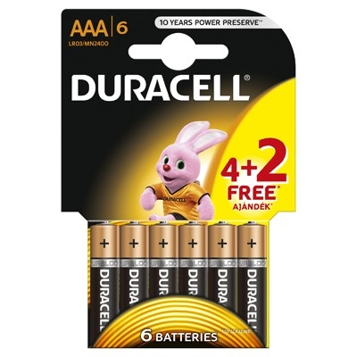 Duracell - Baterie AAA LR03, 4+2 buc. gratis