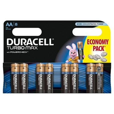Duracell Baterie Turbo Max AA LR 06 8buc