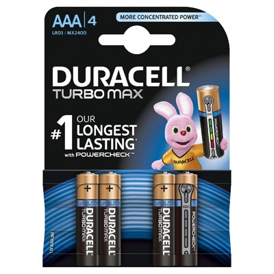 Duracell Turbo Max - Baterie AAA LR03, 4 buc.