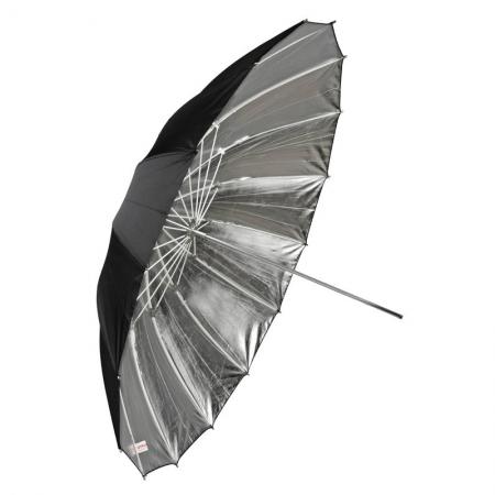Dynaphos Fibro - Umbrela reflexie, argintiu, 180 cm