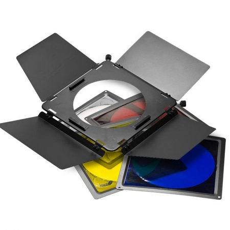 Dynaphos - sistem voleti, filtre colorate si grid, diametru 18cm