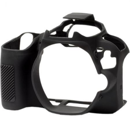 EasyCover - Carcasa protectie pentru Canon 200D, Negru
