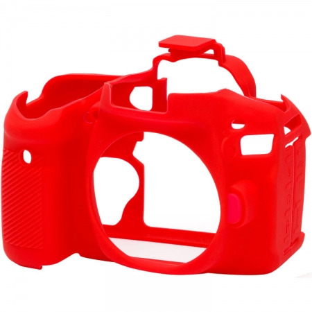 EasyCover - Carcasa protectie pentru Canon 80D, Rosu