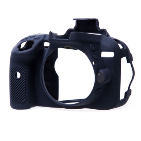 EasyCover - Carcasa protectie pentru Nikon D5200, Negru