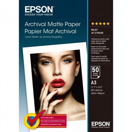 Epson Archival Matte Photo A3 - 50 coli - 192g/mp (S041344)