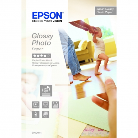 Epson Glossy S042044 - hartie foto 10x15cm 20coli 225/m²
