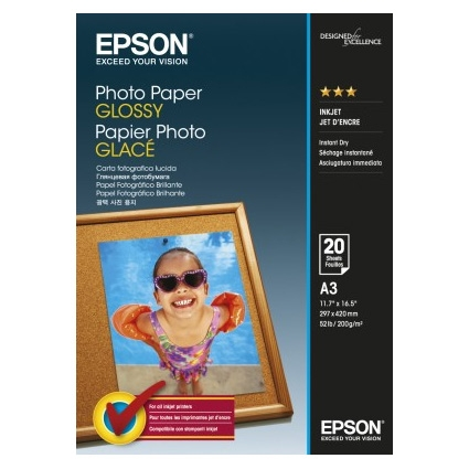 Epson Photo Paper Glossy C13S042536 A3, 20 coli, 200g