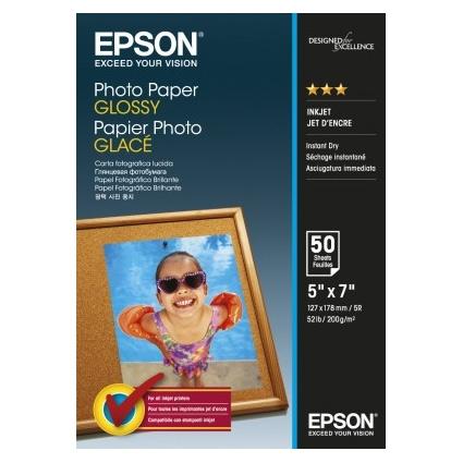 Epson Photo Paper Glossy C13S042545 13x18cm, 50 coli, 200g