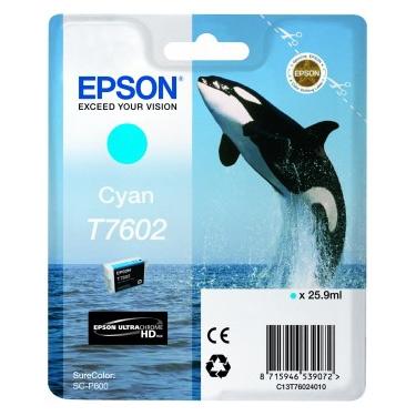 Epson T7602 - Cartus Cyan pentru Epson P600