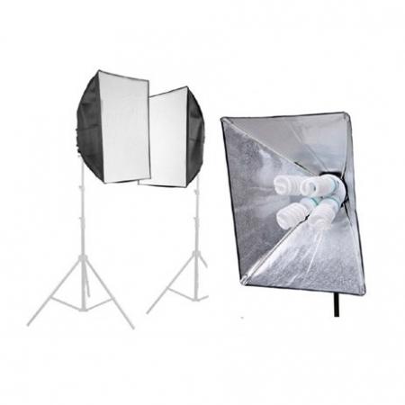 Fancier Studio kit SFL-4 - set 2 lampi LED 8x30W + 2 stative + 2 softboxuri 50x70cm + husa transport