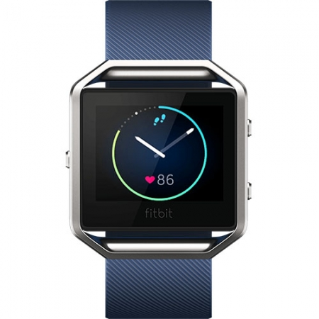 FitBit Blaze - Smartwatch Fitness Wireless, Marimea L - Albastru