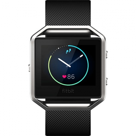 FitBit Blaze - Smartwatch Fitness Wireless, Marimea L - Negru