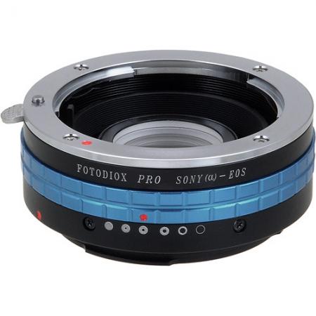 Fotodiox Pro - Inel adaptor Sony A la Canon EOS EF cu cip de confirmare focus