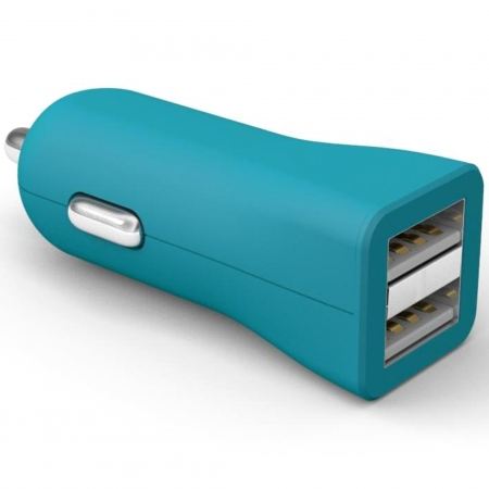 Kit Fresh - Incarcator auto universal, 2x USB, 3400 mAh (1A + 2.4A), fara cablu incarcare, Albastru