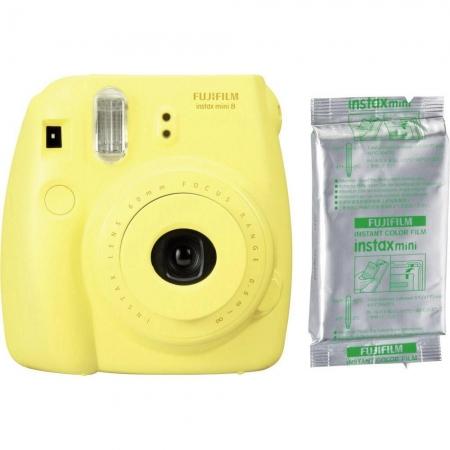 Fujifilm Instax Mini 8, Galben + Set hartie foto, 10 buc.