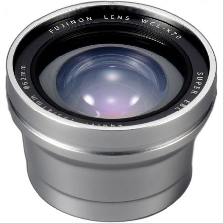 Fujifilm WCL-X70 Wide Conversion Lens, Argintiu