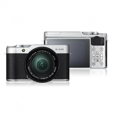 Fujifilm X-A10 Kit 16-50mm, Argintiu