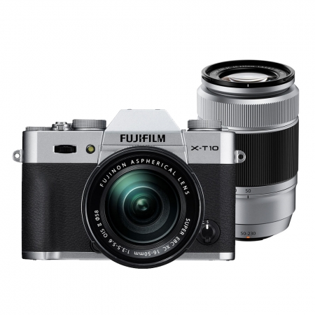 Fujifilm X-T10 Argintiu kit 16-50mm + 50-230mm