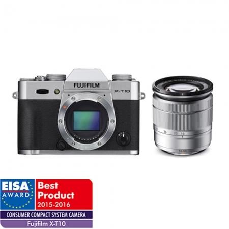Fujifilm X-T10 argintiu kit Fujinon XC 16-50mm f/3.5-5.6 OIS II argintiu