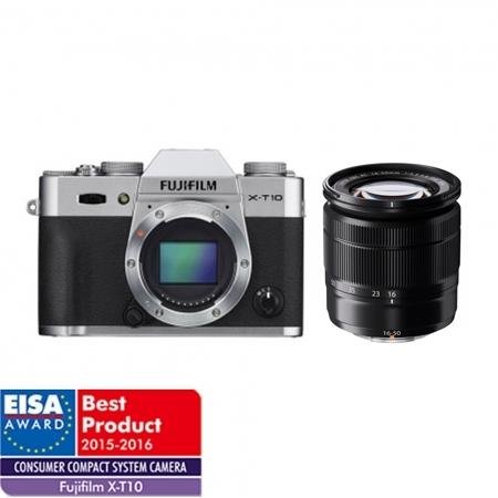 Fujifilm X-T10 argintiu kit Fujinon XC 16-50mm f/3.5-5.6 OIS II negru