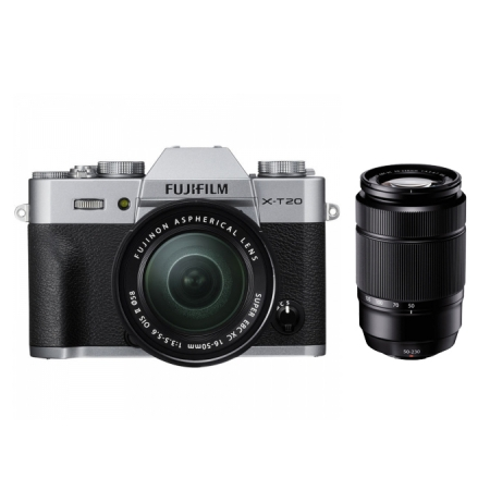 Fujifilm X-T20 Argintiu Kit 16-50mm + 50-230mm
