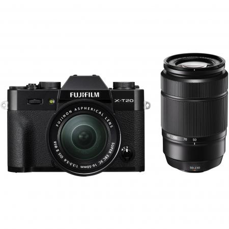 Fujifilm X-T20 Negru Dublu Zoom kit 16-50mm + 50-230mm RS125035644