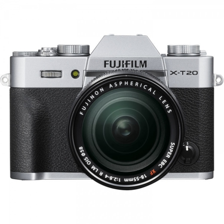 Fujifilm X-T20 kit 18-55mm, Argintiu