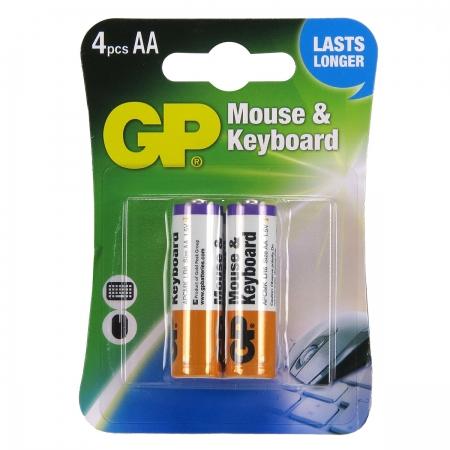 GP mouse & keybords - set 4 baterii alcaline